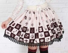 Cosplay Lolita Fantasy Gothic Princess Skirt with lace
