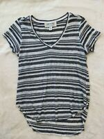 Cloth & Stone By Anthropologie Striped Tee Gray / White Size XS