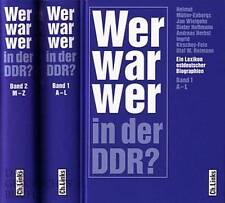 Enbergs: Wer war wer in der DDR? Biographisches Lexikon 2 Bände -NEU-