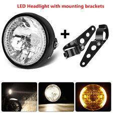"Black Bracket Mount Universal 7"" Motorcycle ATV Headlight LED Turn Signal Light"