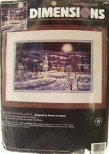 Dimensions Needlepoint Kit Winter Moonlight #2455 Rare Brand New in Pkg