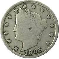 1905 Liberty Head V Nickel 5 Cent Piece VG Very Good 5c US Coin Collectible