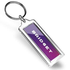 Bridget Name Purple Waves Keyring   #107923