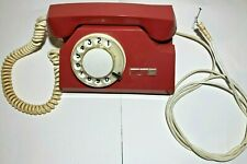 1984 Vintage Russian USSR Rotary Dial Phone Red Working