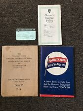 1942 Plymouth Owner's Instruction Book, Service Policy, and Identification Card