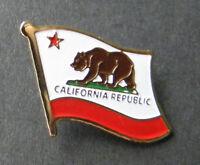 US CALIFORNIA STATE FLAG USA SINGLE LAPEL PIN BADGE 7/8 INCH