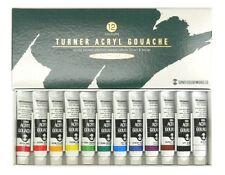 Turner Paints Acrylic Gouache 12 Colors  Tube School Set Japan Free Shipping