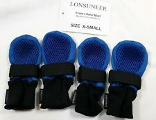 """LONSUNEER Dog Boots XS Breathable Protect Paws Soft Nonslip Sole Width 1.97"""""""