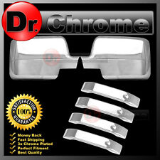 04-08 Ford F150 Chrome Mirror+4 Door Handle Lever ONLY Trim Bezel Cover COMBO