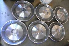 1966-67 Cadillac El Dorado & Other Makes Hub Caps With Air Slits Set Of 6 Used