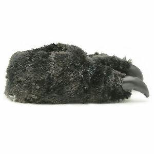 British Footwear Unisex 3D Novelty Monster Animal Feet Claw Black Slippers