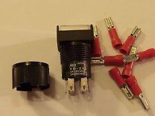 Blanco LED Pulsador Interruptor (YB-26SKS1 -59 bebs) 8 Pin contactos 3A125VAC-3A250VAC