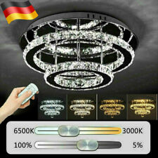 NEU 36W LED Kristall Deckenleuchten Schlafzimmer Dimmbar Kronleuchter Leuchte