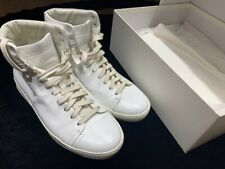 John Elliott White Leather Hi Top Sneakers 40