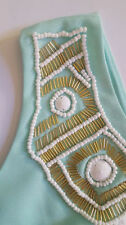 New Lilly Pulitzer SABRINA Shift Dress S M Poolside Blue Gold Beaded NWT RARE