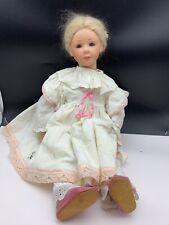 Vera Scholz Repro Künstlerpuppe Porzellan Puppe 52 cm. Top Zustand