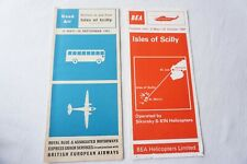 More details for 1961 1964 isles of scilly bea airline timetable schedule x2 royal blue coach