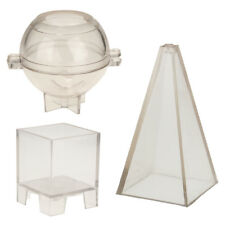 Pyramid Sphere Square Shaped Plastic Candle Mould Model DIY Soap Mold Crafts