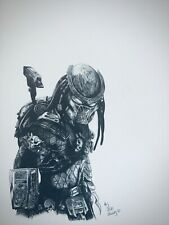 Predator mounted poster Printed original artwork mounted by daisy baker