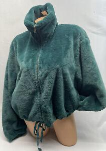 Victoria's Secret PINK Know One Cares Faux Fur Leopard Coat Jacket Large NWT
