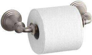 NEW Kohler Devonshire Toilet Paper Holder ~ Vibrant Brushed Nickel 10554-BN