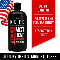100% Pure MCT oil with testosteron and hemp oil  KETO High Faster C8 C10 by USA.