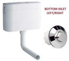 GROHE ADAGIO CONCEALED HIDDEN CISTERN BOTTOM INLET 37945 + 38488 AIR PUSH BUTTON