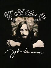John Lennon Instant Karma We All Shine On Men's Tee Beatles Small Used