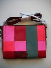 Fossil Emma Patchwork Leather Cossbody / Clutch Bright Patch MSRP $148 NWT