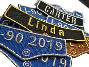 Personalised Pocket Name Embroidered Patches Sew On Iron On Badge Hat Jeans Club
