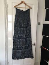 Next Size 16 Sleeveless Paisley Maxi Dress.  (m18)