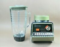 Vintage Osterizer Galaxie Pulse Matic 16 Blender Glass Pitcher Avocado/Chrome