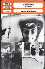 CHANTAGE - Alfred Hitchcock (Fiche Cinéma) 1929 - Blackmail