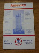 11/09/1982 Ards v Bangor [Northern Ireland Ulster Cup]  (Item has no apparent fa