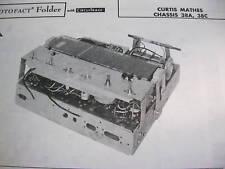 CURTIS MATHES 38A & 38C TUNER RECEIVER PHOTOFACT