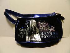 "Hananah Montana Black Suede Purse with 1 Blue Strap 10""Lx5""Hx2""W   Used GC"