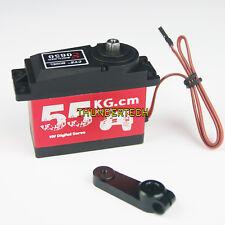 Digital Steering Servo 55KG Metal Gear for 1/5 RC HPI rovan km Baja 5B 5T 5SC