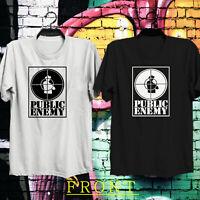 Vintage 90s' Public Enemy PE Gildan Logo Men's Black & White T Shirt tee
