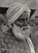 1928 Original INDIA Jaipur Old Man Rajput Turban Beard Male Portrait ~ HURLIMANN