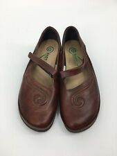 Naot Shoes Matai Comfort Mary Janes Brown Israel Womens Size EU 38