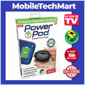 Power Pod❖AS SEEN ON TV❖Keychain iPhone Apple Charger❖USB Rechargeable❖Emergency