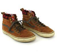 Vans Shoes Scotchgard Shoe Boots 3m Mens Sz 9.5 Women's 11 Flannel Lined Brown