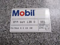 Vintage Gas Oil Credit Charge Card 1991 MOBIL OIL GREAT SHAPE PROP