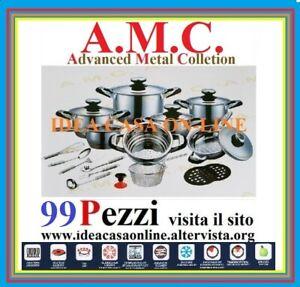 AMC 99 PEZZI IDEALE PER PIANI AD INDUZIONE E NON
