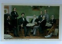 First Reading Proclamation of Emancipation US Capitol Abraham Lincoln Postcard