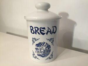 VINTAGE MELBA WARE BLUE WILLOW LARGE BREAD BIN