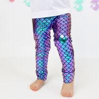 Todder Imcute Kids Baby Girls Mermaid Fish Stretch Long Leggings Tight Pants