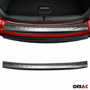 Fits Fiat 500 2007-2015 Chrome Rear Bumper Guard Trunk Sill Protector Brushed