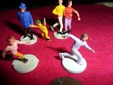 4 Vintage Plastic Miniature skaters