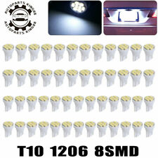 50pcs Cool White T10 8SMD LED Wedge Interior Light Bulb W5W 192 194 158 168 2825